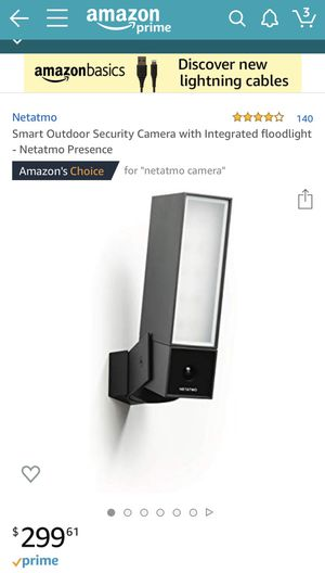 Netatmo Security Camera for Sale in Cherry Hills Village, CO