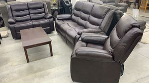 GREAT🌹Santiago brown recliner Brand New set Livingroom $39 down 🚚 No credit Check 💕 for Sale in Houston, TX