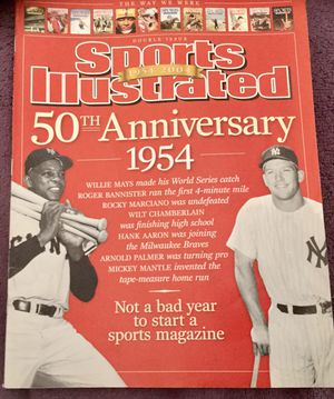 SPORTS-ILLUSTRATED-50th-ANNIVERSARY-DOUBLE-ISSUE-1954-2004-MAYS-MANTLE for Sale in Scottsdale, AZ