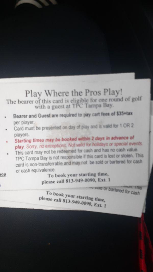 Golf ticket