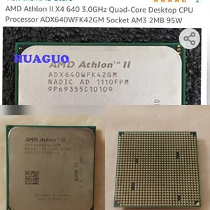AMD Athlon II X4 640 3.0GHz Quad-Core Desktop CPU Processor - Socket AM3 2MB 95W (ADX640WFK42GM) for Sale in Kenmore, WA