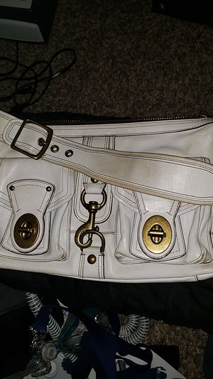 $40 Vintage Coach Mandy Legacy Satchel Prachment White Leather Bag 65th Annive 10331 for Sale in Woodinville, WA