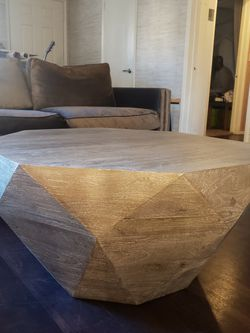 Coffee Table Wood Jewel Hexagon Shape for Sale in Los Angeles,  CA