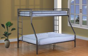TWIN/FULL BUNK BED GREY for Sale in The Bronx, NY