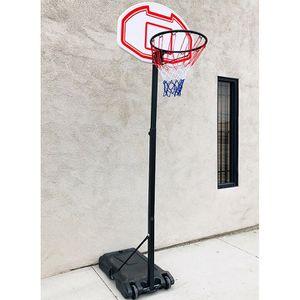 "$50 (new in box) junior basketball hoop 28""x19"" backboard adjustable rim height 5-7ft kids outdoor sports for Sale in Santa Fe Springs, CA"