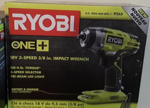RYOBI 18-Volt ONE+ Cordless 3/8 in. 3-Speed Impact Wrench (Tool Only) for Sale in Miami, FL