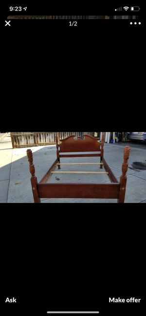 Full size bed. Painted black for Sale in Modesto, CA