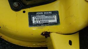John Deere mower deck 48C OBO for Sale in Ijamsville, MD
