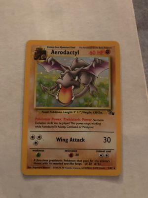 Aerodactyl holo. 1/62 (fossil) for Sale in Brookhaven, GA