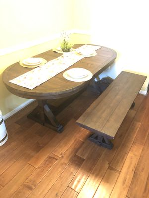 Kitchen Table with Bench for Sale in Chandler, AZ