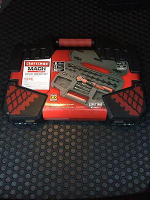 NEW CRAFTSMAN 53PC MACH SERIES SOCKET WRENCH SET for Sale in Palos Hills, IL