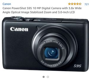 Canon S95 10mp camera (no charger) for Sale in Seattle, WA