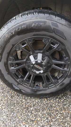 "Pruven Designs Matte Black 18"" rims/tires (like new) for Sale in Killingly, CT"