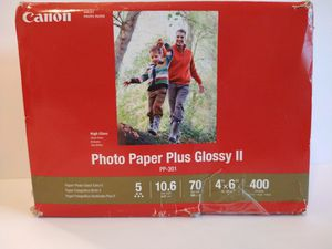 """Canon PP-301 Photo Paper Plus Glossy II (4 x 6"""", 400 Sheets) for Sale in Mesquite, TX"""