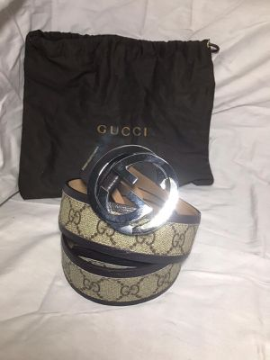 Gucci Brown GG Supreme Leather Belt *Authentic for Sale in Queens, NY