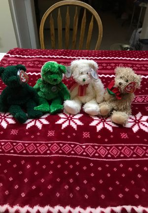 Ty beanie baby set of 4 Holiday Teddy's 2001,2002,2004,2005 Mint Condition for Sale in Kannapolis, NC