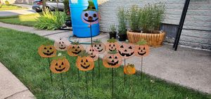 13 Each Metal Pumpkin Stock see 6 pictures show shape for Sale in Oak Lawn, IL