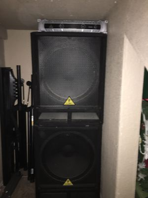 Behringer 18 inch subwoofers, with power amp and cords for sale. $450.00 or best offer. for Sale in Brownsville, TX