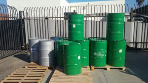 Mint condition Food Grade no chemical 55 gallons metal drums $15each for Sale in Rosemead, CA