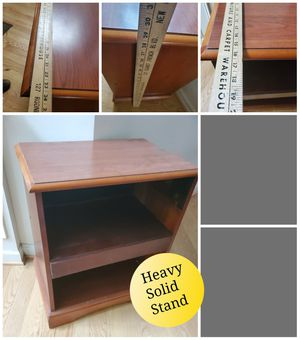 TV stand solid heavy made of real oak for Sale in Hillsborough, NC