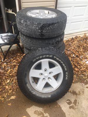 Jeep Wrangler tires wheels for Sale in Cedar Hill, MO