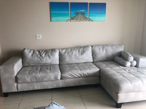 Slightly used white grey couch for Sale in Miami, FL