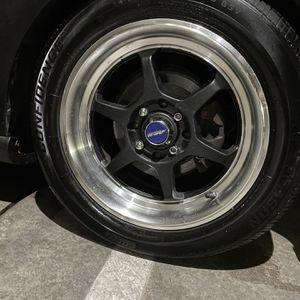 15in 4x100 Buddy Club Style Wheels for Sale in Renton, WA
