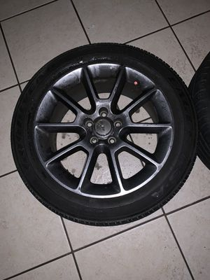 Factory upgraded wheels ford 18 in selling 2 rims w tires for Sale in Jupiter, FL