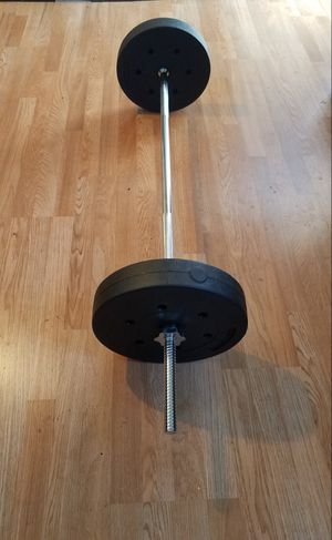 "5 foot standard 1"" barbell with 2x20lbs standard 1"" weights for Sale in Montebello, CA"