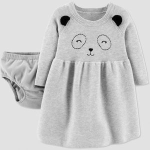 Just One You made by carter's Baby Girls' Panda Sweater Dress Gray 24M for Sale in Beech Grove, IN