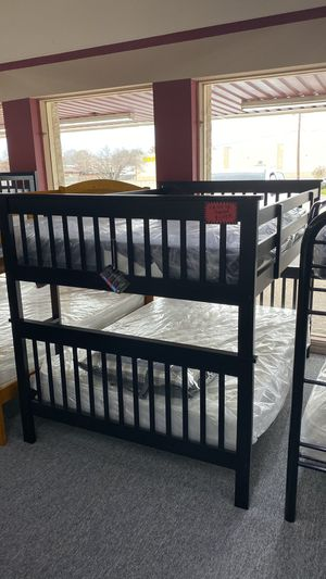 Dark Brown Full over Full Size Wooden Bunk Bed Only 5 for Sale in Irving, TX