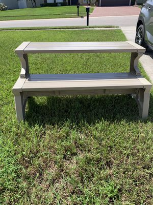 Furniture-Beautiful Lightweight Outdoor patio or picnic fold- up bench table for Sale in Orlando, FL
