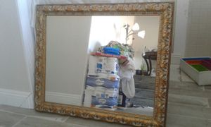 "Modern Mirror Solid Wood Carping Frame35""x29.5"" Like New for Sale in West Covina, CA"