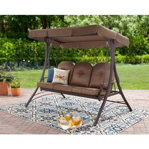 Mainstays Wentworth 3-Person Cushioned Canopy Porch Swing Bed for Sale in Houston, TX