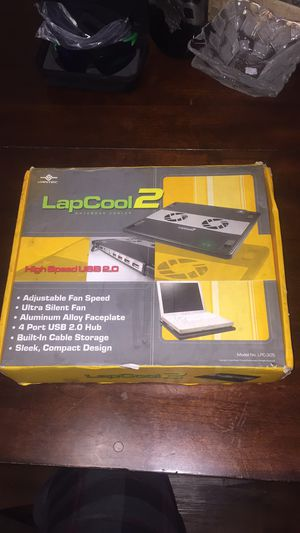 Vantec LapCool 2 Notebook Cooler With Dual Adjustable Speed Fans Lpc-301 for Sale in Silver Spring, MD