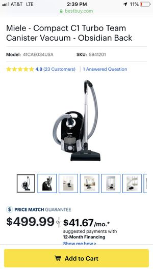 Miele c1 vacuum for Sale in Los Angeles, CA