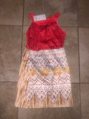 Moana girl dress size 10 for Sale in Paramount, CA