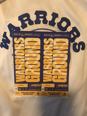 Warriors vs Grizzlies / Pelicans / Twolves for Sale in Livermore, CA