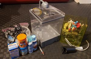 Complete 1.5 gal Fish tank Starter Set for Sale in Issaquah, WA