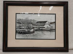 Framed Seattle Port Print - Warren Winther '89 for Sale in Edgewood, WA