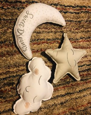 3 Decorative Nursery Pillows for Baby for Sale in Colorado Springs, CO