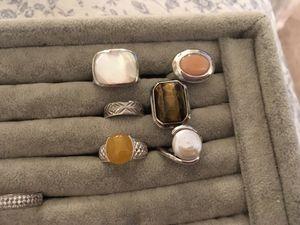 925 gemstone rings size 6 for Sale in Glen Burnie, MD