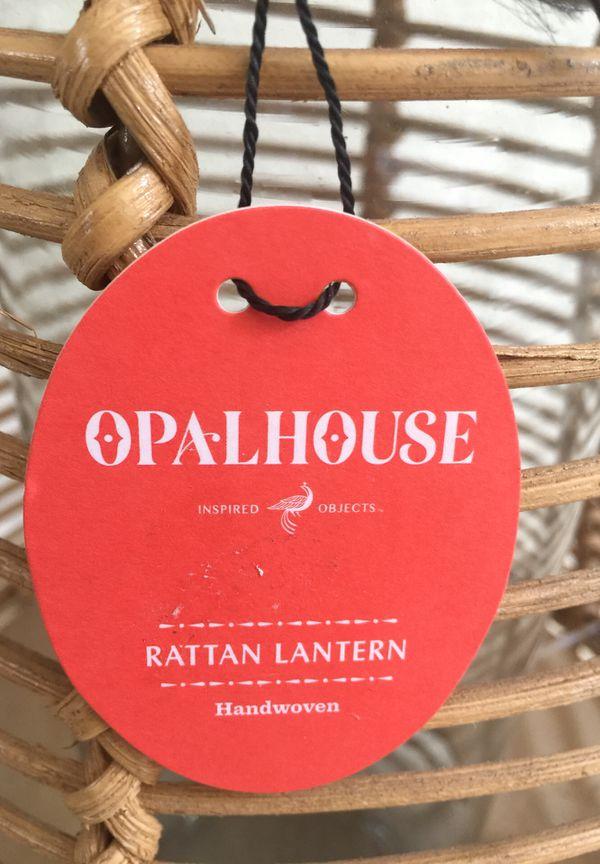 $22 New unopened Rattan Lantern Opal House