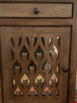 Wooden/Mirrored Nightstand Matching Set (2) for Sale in Anaheim,  CA