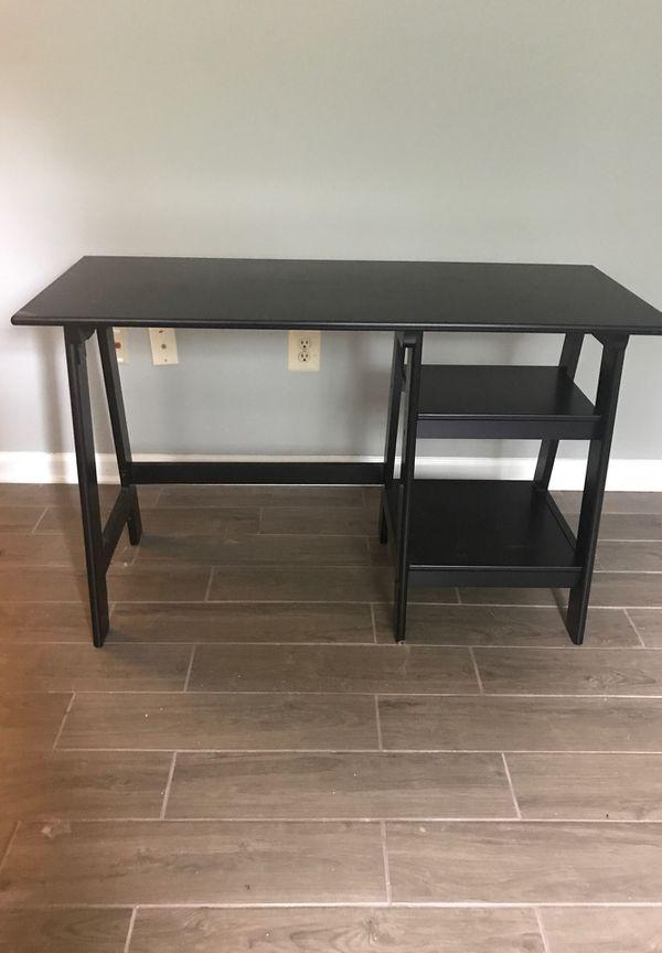 Black Trestle Desk