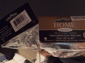 """Brand New Home Inspirations Decorative Cafe Curtain Rod Set 48"""" to 84"""" for Sale in Baden, PA"""