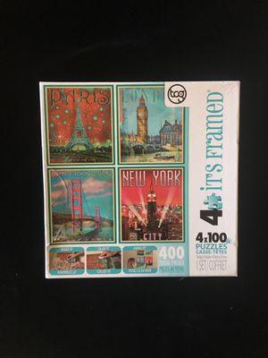 4 Destinations in 100 pc ea Puzzles for Sale in Alexandria, VA