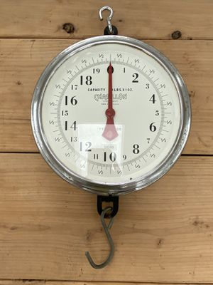 Vintage Antique Chatillon Glass Face 60 Lbs x 1oz. Hanging Scale Head New York for Sale in Centralia, WA