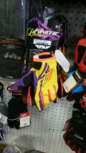 Motorcycle riding gloves LA Lakers colors for Sale in Los Angeles, CA