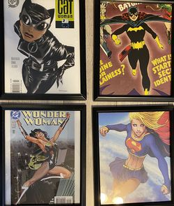 DC Girls Comic Framed Pictures for Sale in Fort Lauderdale,  FL